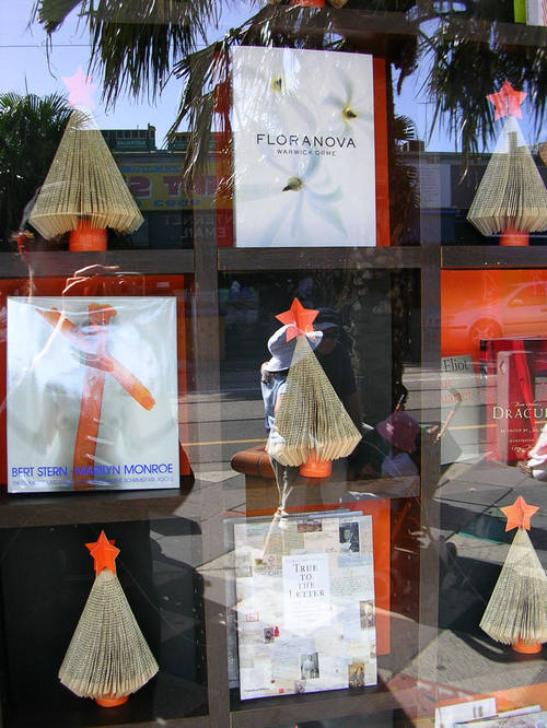 s. Cosmos bookshop window, Acland St