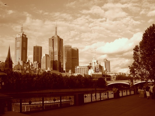Flinders Stn from Southbank
